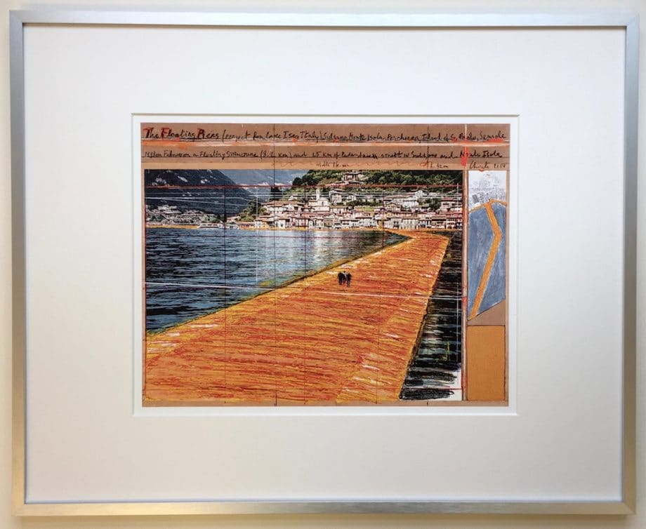Christo | The Floating Piers - gerahmter Kunstdruck 2