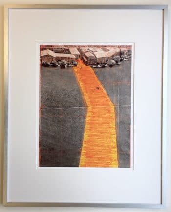 Christo | The Floating Piers - gerahmter Kunstdruck 3