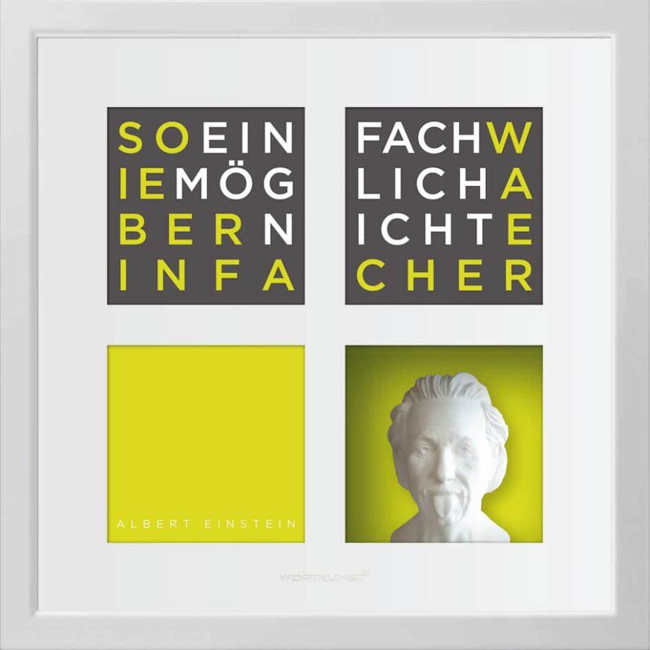 Ralf Birkelbach | Wortkunst | Albert Einstein 1