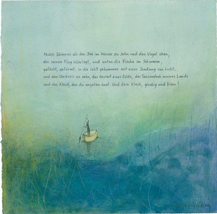 Antje Wichtrey | nichts schönres als den Stab im Wasser zu sehen und den Vogel oben