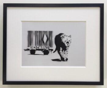 Banksy | Barcode - gerahmter Miniprint