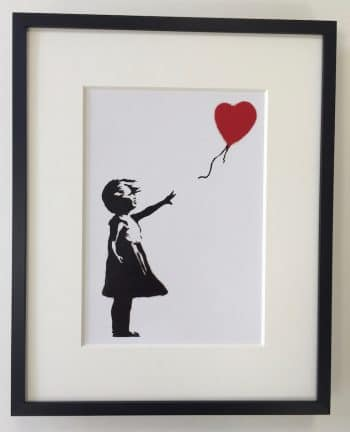 Banksy | Girl With Balloon- gerahmter Miniprint