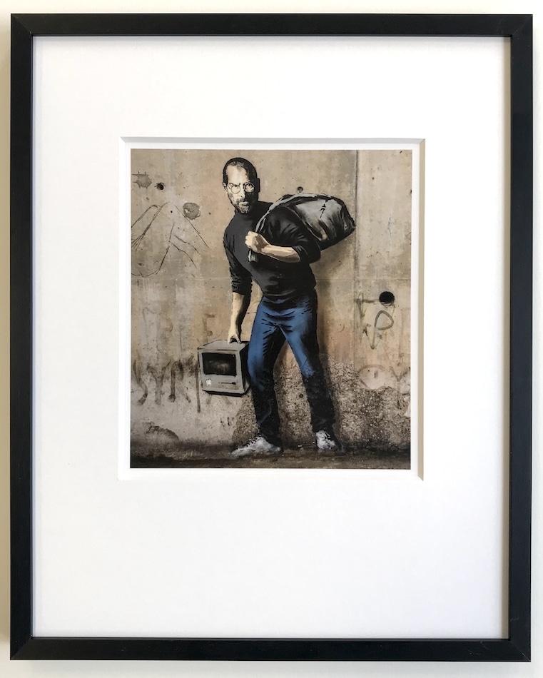 Banksy | Steve Jobs - gerahmter Miniprint