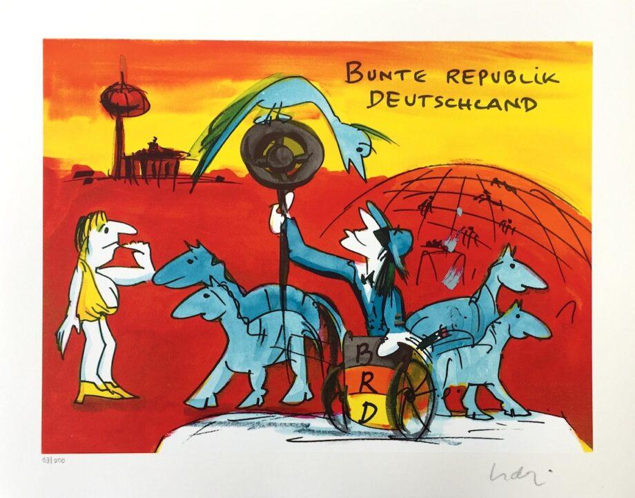 Udo Lindenberg   Bunte Republik Deutschland - Siebdruck