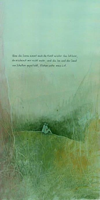 Antje Wichtrey | ohne die Sonne nimmt auch die Kunst wieder den Schleier, ...