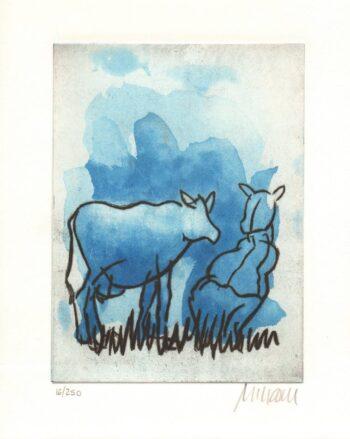 Armin Mueller-Stahl | Die blaue Kuh (Auf der Weide)