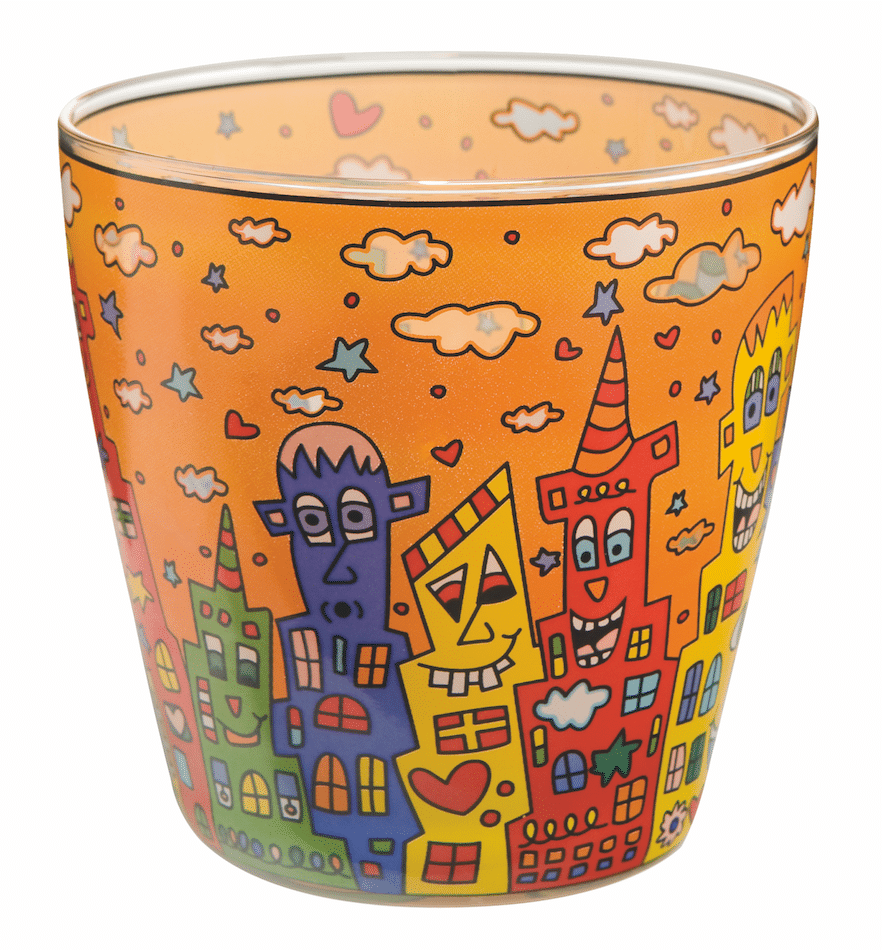 James Rizzi | Glasteelicht City Sunset