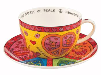 James Rizzi   Cappuccino Tasse The Spirit of Peace