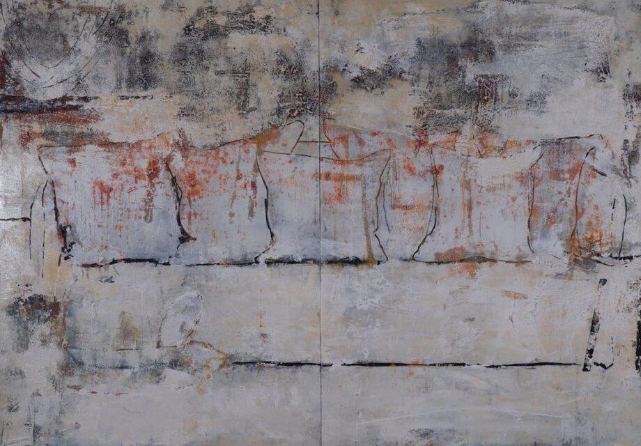 Armin Weinbrenner Holzrelieftafel Nr. 410