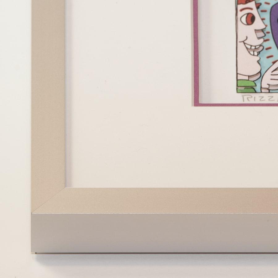 Alurahmen silbermatt | 90 x123 cm