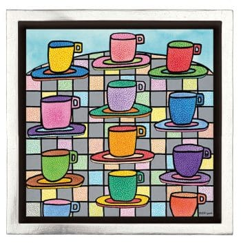 James Rizzi The most colorful cups of coffee