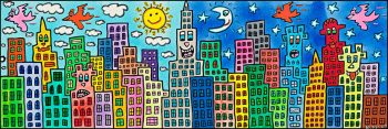 James Rizzi | my candy coloured city of love-0