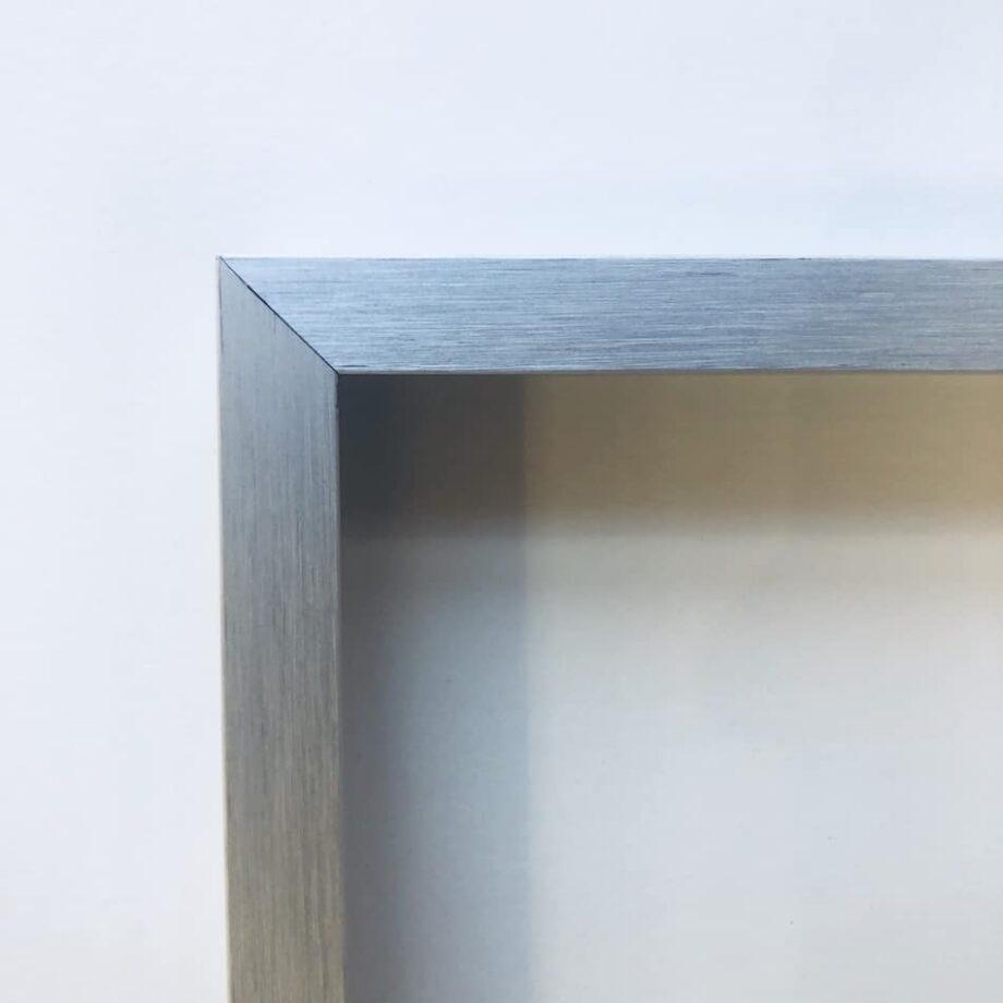 Alurahmen struktur silber matt   70 x 100 cm