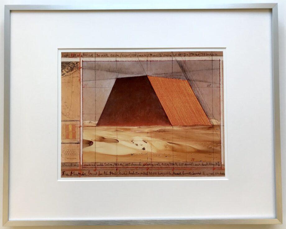 Christo | Mastaba - gerahmter Kunstdruck