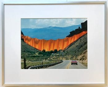 Christo | Valley Curtain - gerahmter Kunstdruck