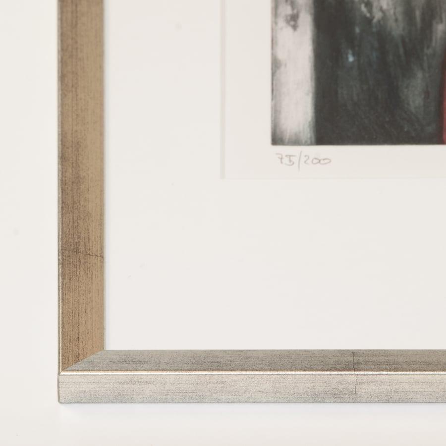 Silberner Holzrahmen (Holz 15 mm)   24 x 30 cm
