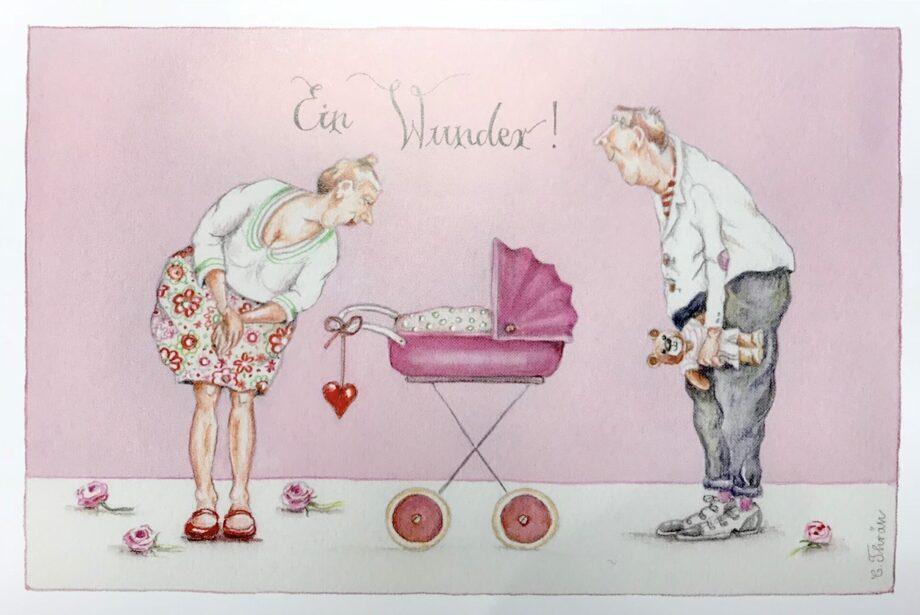 "Christina Thrän | Briefkarte ""Ein rosa Wunder"""