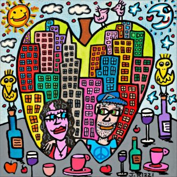 James Rizzi You are the apple of my eye