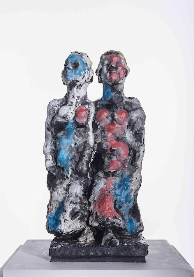 Markus Lüpertz Zwilling - Bronze-Skulptur