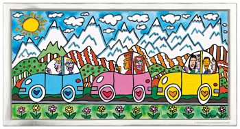 James Rizzi Driving through the Alps