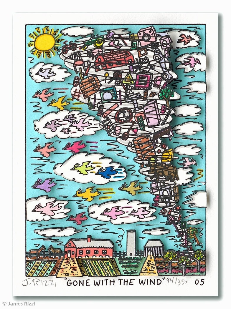James Rizzi | Gone with the wind, gerahmt