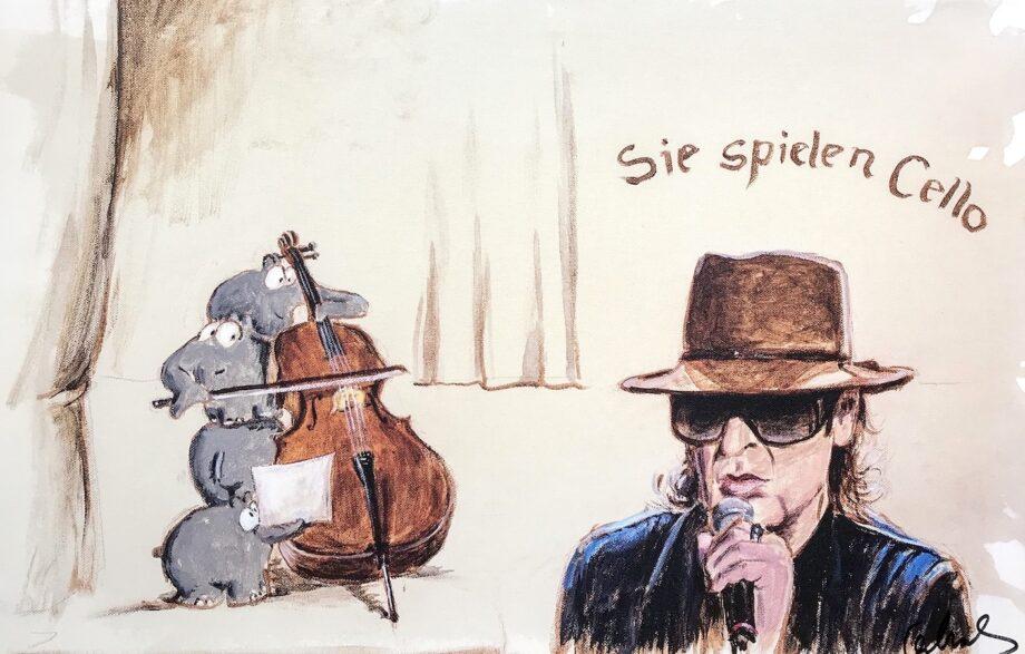 Otto Waalkes Sie spielen Cello
