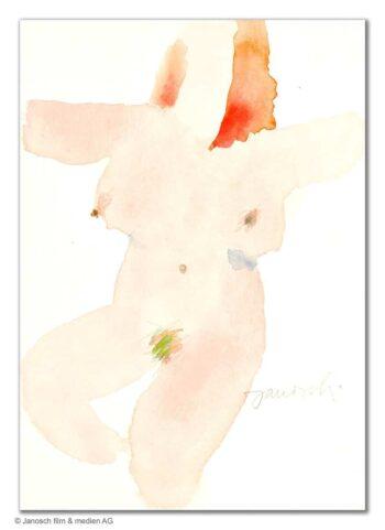Janosch | Eine abstrakte Dame als Akt (gerahmt)