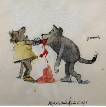 Janosch | Küss die Hand Frau Wolf (gerahmt)