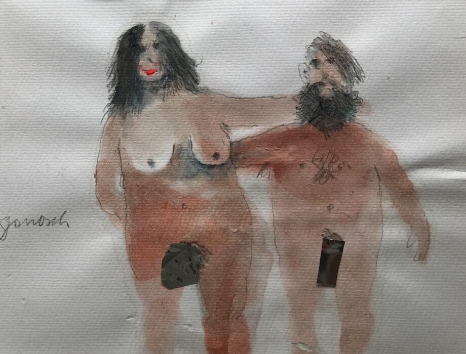 Janosch | links von mir steht mein 2. Mann mit Bart (gerahmt)