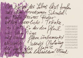 Günther Uecker | Huldigung an Hafez 10