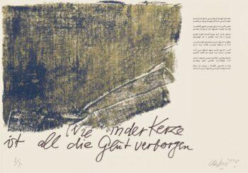 Günther Uecker | Huldigung an Hafez 11