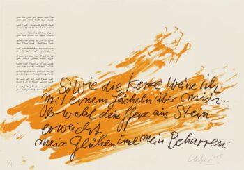 Günther Uecker | Huldigung an Hafez 14