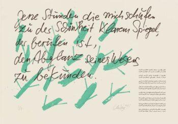Günther Uecker | Huldigung an Hafez 20