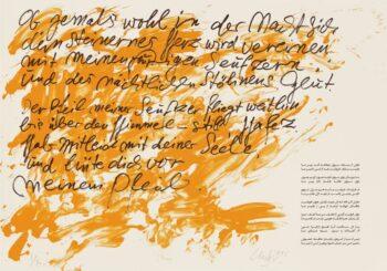 Günther Uecker | Huldigung an Hafez 21