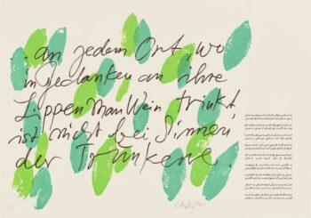 Günther Uecker | Huldigung an Hafez 27