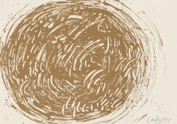 Günther Uecker | Huldigung an Hafez 36 - Sanddruck