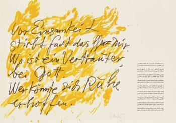 Günther Uecker | Huldigung an Hafez 40 - Siebdruck
