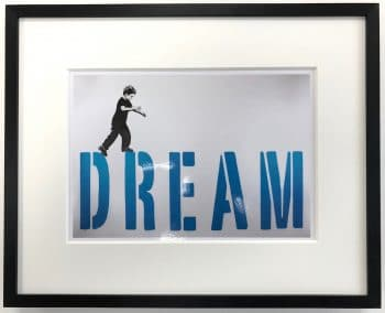 Streetart | Dream - gerahmter Miniprint