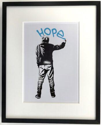 Streetart | Hope - gerahmter Miniprint