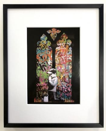 Banksy | Forgive us our trespassing - gerahmter Miniprint