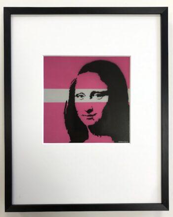 Banksy | Mona Lisa - gerahmter Miniprint