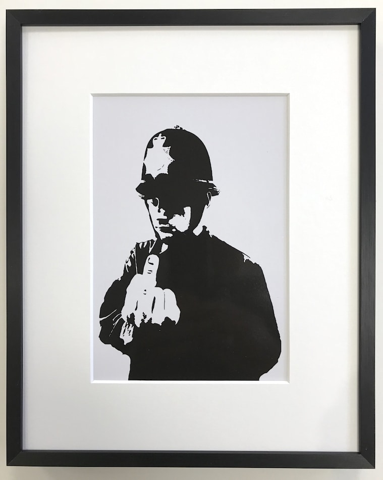 Banksy | Rude Copper - gerahmter Miniprint
