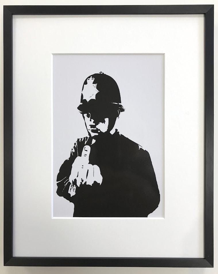 Banksy | Rude Copper - gerahmter Miniprint