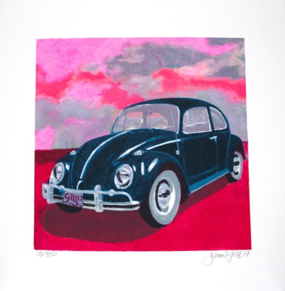 James Francis Gill Mini Bug - Pink Sky (gerahmt)