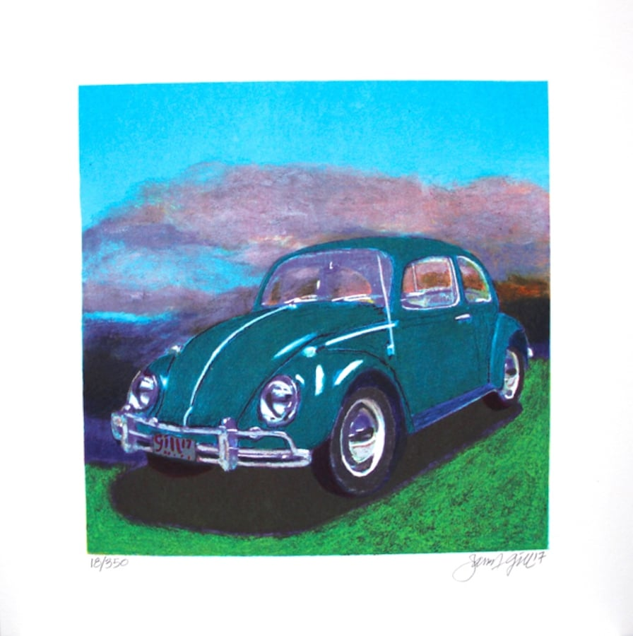 James Francis Gill Mini Bug - Turquoise (gerahmt)