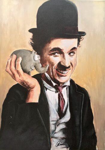 Otto Waalkes | Charlie Chaplin (Leinwand)