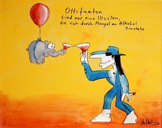 Otto Waalkes Ottifanten sind nur eine Illusion (rot)