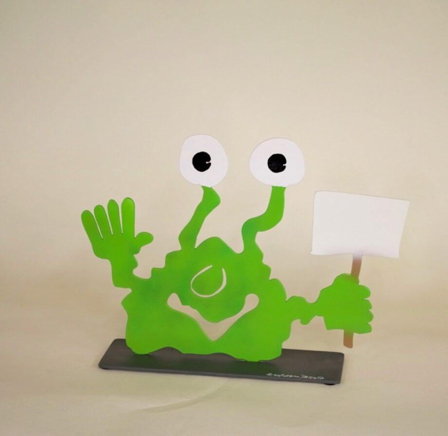 Patrick Preller Monster TOGO mit Schild