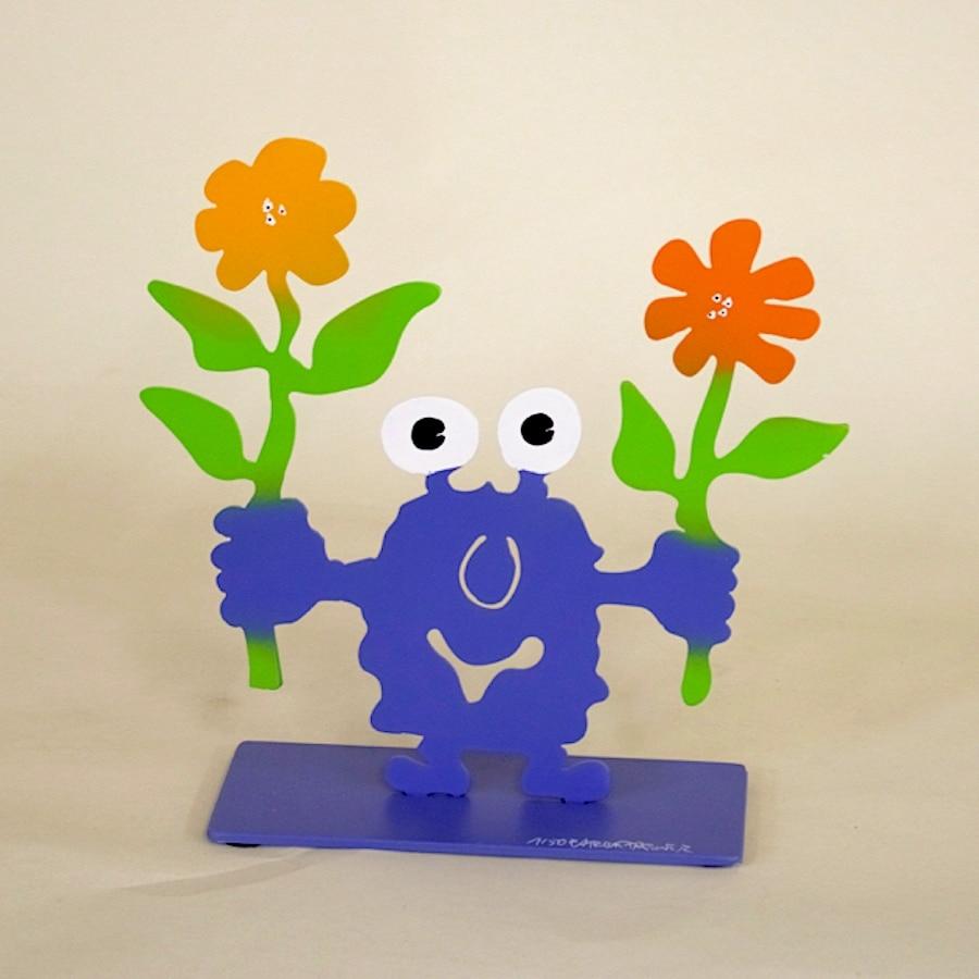 Patrick Preller Monsterkollege mit zwei Blumen