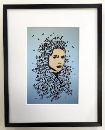 Streetart | Let her be free - gerahmter Miniprint